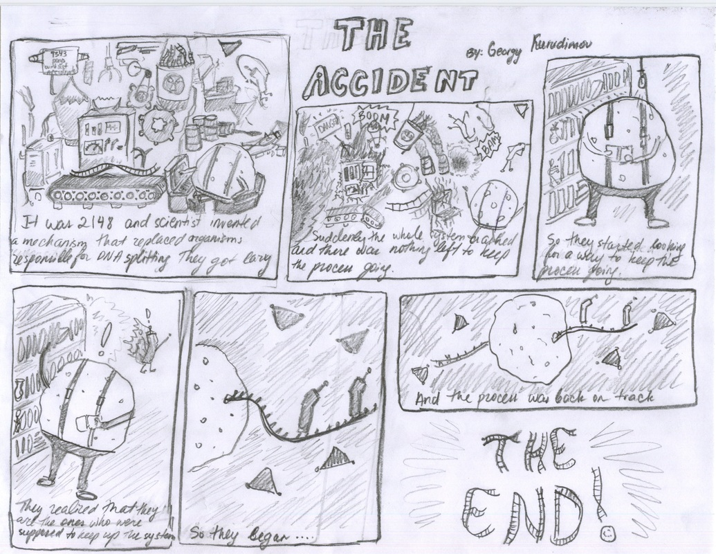 Artifact  Protein Synthesis Comic Strips  Mary Alice Mcmanmons  Artifact B  Examples Of Work From Students That Did Not Base Their Comic  Off Of Textbook Images